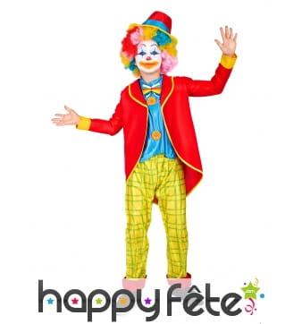 Costume de petit clown avec veste rouge