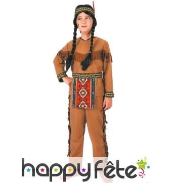 Costume de petit indien avec franges