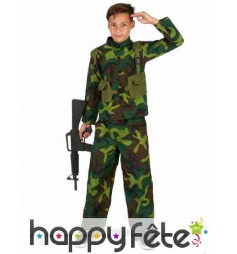 Costume de petit Militaire pour garçon
