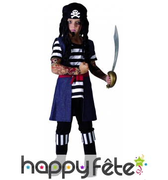 Costume de petit pirate tatoué