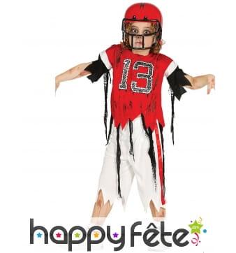 Costume de petit rugbyman zombie