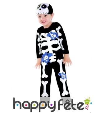 Costume de petit squelette chauves-souris rigolo