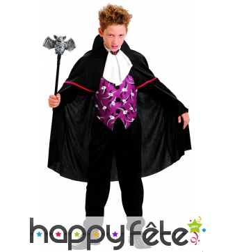 Costume de petit Vampire imprimé tête de mort