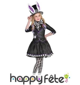 Costume de petite chapelière gothique pour fille