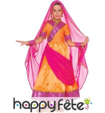 Costume de petite danseuse de bollywood