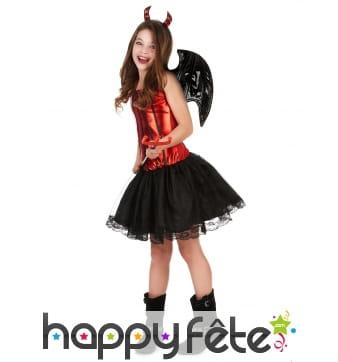 Costume de petite diablesse avec jupe en tulle
