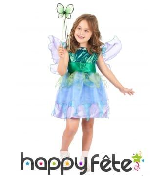 Costume de petite fée turquoise pour enfant