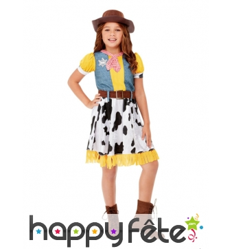 Costume de petite fille cow boy