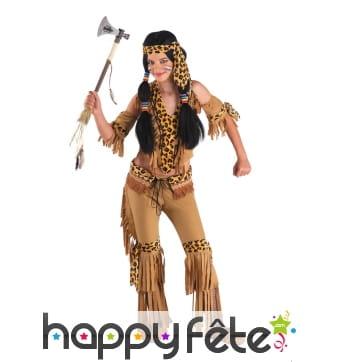Costume de petite indienne motifs léopard