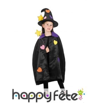 Costume de petite sorcière patchwork