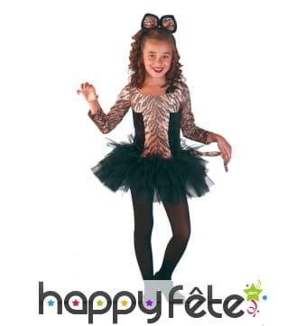 Costume de petite tigresse en tutu pour enfant
