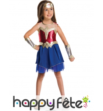 Costume de petite Wonder Woman luxe