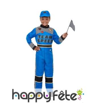Costume de pilote de course auto pour enfant