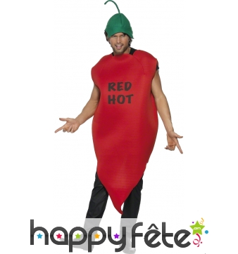 Costume de piment rouge