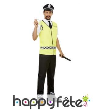 Costume de policier en vareuse pour homme