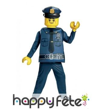 Costume de policier Lego pour enfant
