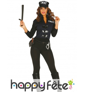 Costume de policière sexy SWAT