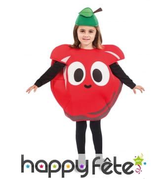 Costume de pomme rouge pour enfant