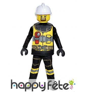 Costume de pompier Lego pour enfant