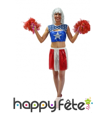 Costume de pompom girl US