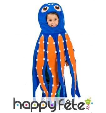 Costume de poulpe bleu pour enfant