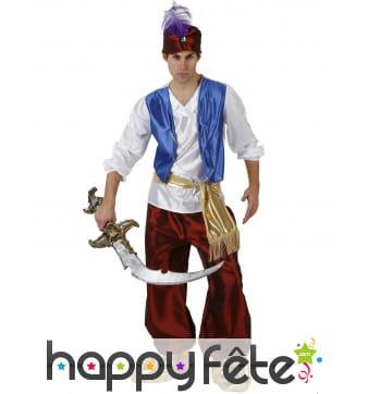 Costume de prince arabe avec pantalon et gilet