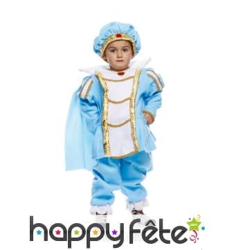 Costume de prince charmant bleu pour tout petit