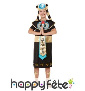 Costume de Prince d'Egypte pour enfant avec coiffe