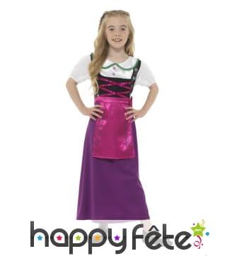 Costume de princesse bavaroise pour enfant