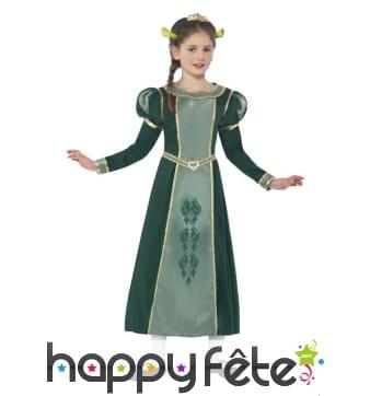 Costume de princesse Fiona pour enfant