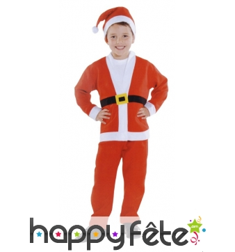 Costume du Père Noël pour enfant
