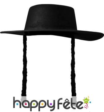 Chapeau de Rabbin avec boucles