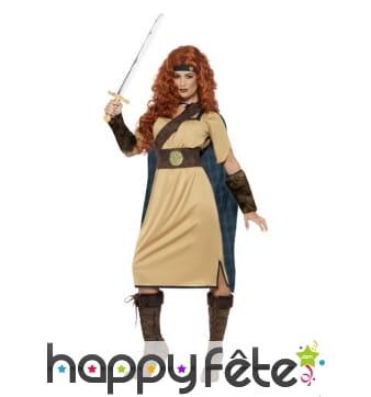 Costume de reine guerrière médiévale
