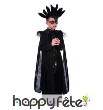 Costume de roi corbeau noir pour enfant