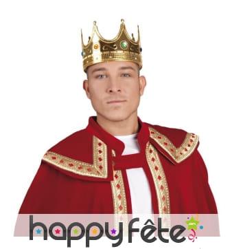 Couronne de roi dorée pour adulte