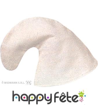 Chapeau de schtroumpf blanc
