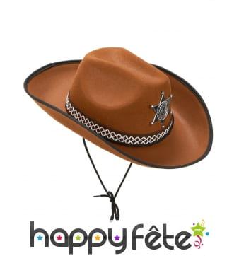 Chapeau de sherif marron pour adulte