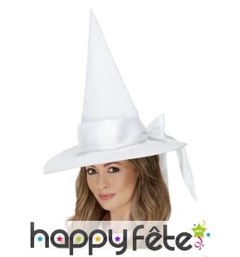 Chapeau de sorcière blanc, luxe