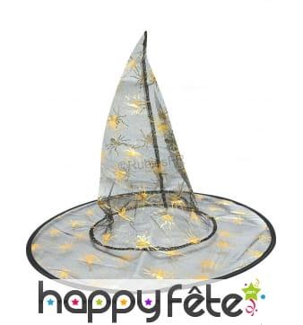 Chapeau de sorcière en voile noir pour enfant