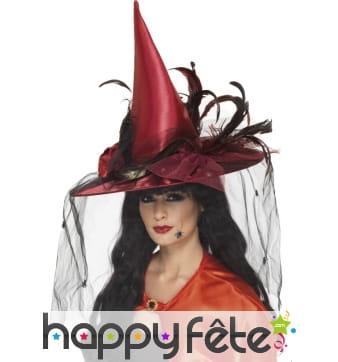 Chapeau de sorcière rouge
