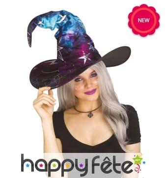 Chapeau de sorcière univers pour femme