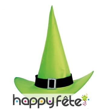 Chapeau de sorciere vert flash