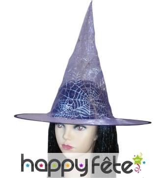 Chapeau de sorciere violet
