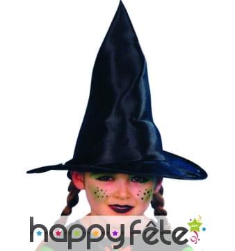 Chapeau de sorcierere enfant noir