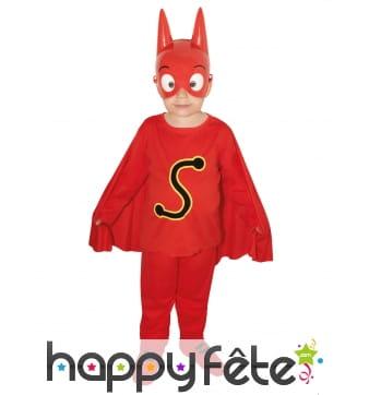 Costume de SamSam pour enfant avec masque
