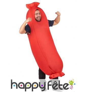 Costume de saucisse pour adulte