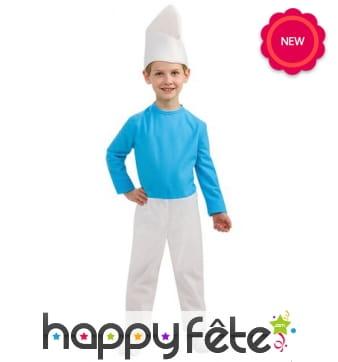 Costume de Schtroumpf bleu pour enfant