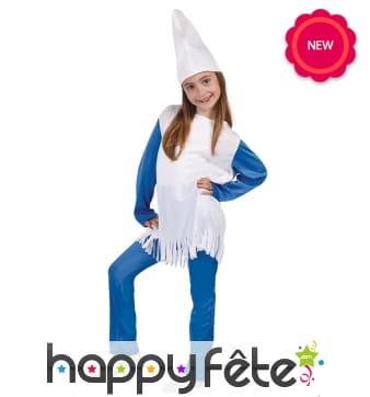 Costume de schtroumpf pour fille