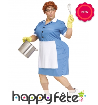 Costume de serveuse de cantine pour femme