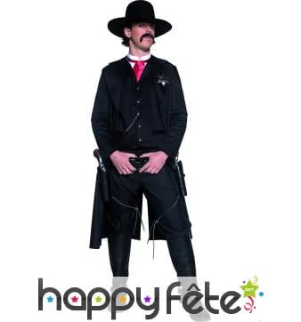 Costume de sheriff du western noir